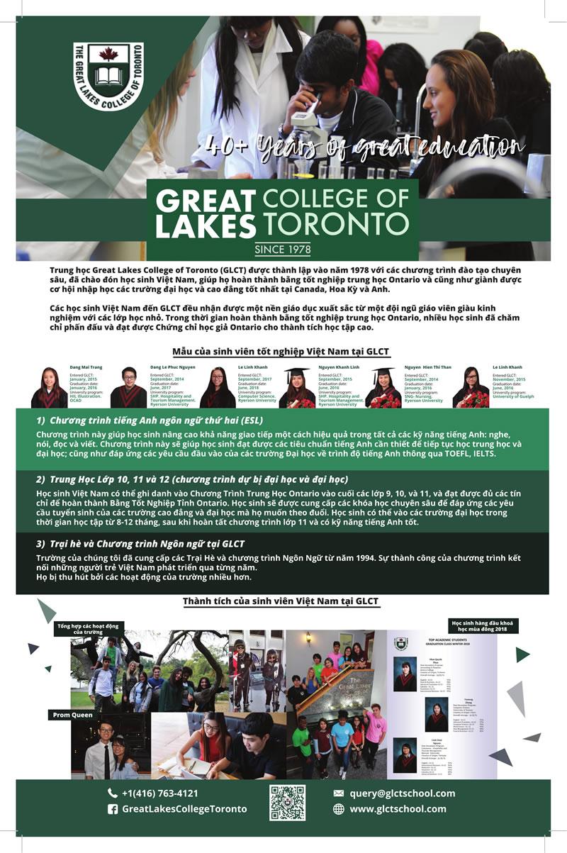 Giới thiệu về trường trung học Great Lakes College of Toronto (GLCT)